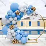 Ballons en arc doublé bleu et gr...