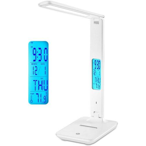 LED-Schreibtischlampe, flexible einstellbare wiederaufladbare Schreibtischlampe mit