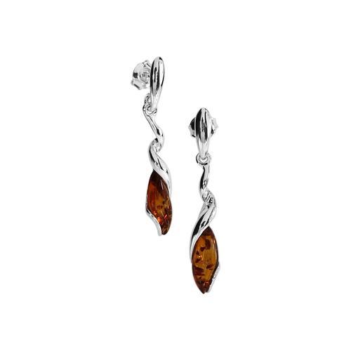 Ohrhänger - Annelie Silber 925/000 Bernstein OSTSEE-SCHMUCK silber