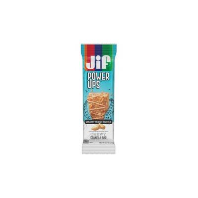 Jif PowerUp Chewy Granola Bars - Individually Wrapped - Creamy Peanut Butter - Box - 6.50 oz - 5 / Box - FOL24440