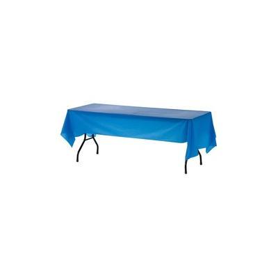 """Genuine Joe Plastic Rectangular Table Covers - 108"""" Length x 54"""" Width - Plastic - Blue - 24 / Carton - GJO10325CT"""