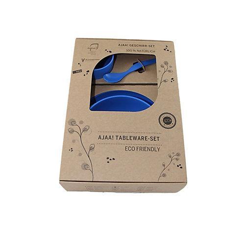 Geschirr-Set 4-teilig nachhaltig blau