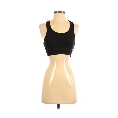 Fila Sports Bra: Black Solid Activewear - Size X-Small