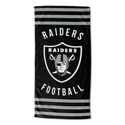 Raiders Stripes Beach Towel by NFL in Multi
