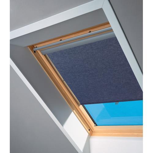 VELUX Dachfensterrollo, Lichtschutz blau Dachfensterrollo Dachfensterrollos Rollos Jalousien
