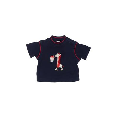 B.T. Kids - B.T. Kids Short Sleeve T-Shirt: Blue Solid Tops - Size 3-6 Month