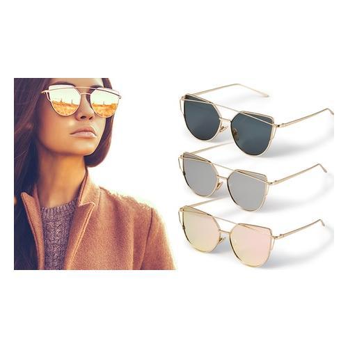 Katzenaugen-Sonnenbrille: 1/ Grau