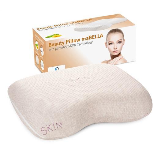 Third of Life Nackenstützkissen maBELLA, (1 St.), Kissen mit Aromatherapie und Hautpflege beige Allergiker Kopfkissen Bettdecken, Unterbetten