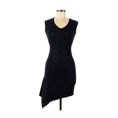 Karen Millen Casual Dress - Bodycon: Blue Solid Dresses - Used - Size X-Small