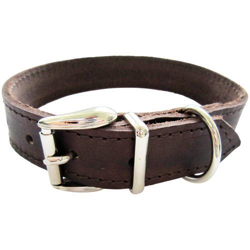 HEIM Hunde-Halsband, Echtleder, Länge: 60 cm braun Hundehalsbänder Hund Tierbedarf Hunde-Halsband