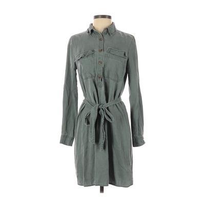 Gap - Gap Casual Dress - Shirtdress: Green Solid Dresses - Used - Size X-Small