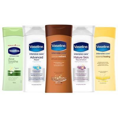 Vaseline Intensive Care Body Lotions: Mature Skin Rejuvenation/Six-Pack