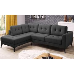 Canapé d angle en tissu collection Charm : Angle gauche / Gris foncé