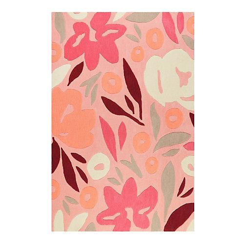 Teppichart Flower Capsul Teppiche rosa