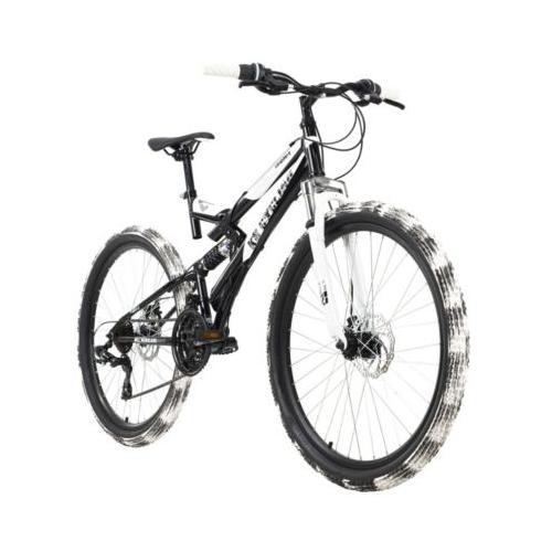 Mountainbike Fully 26 Zoll Crusher Mountainbikes, Rahmenhöhe: schwarz