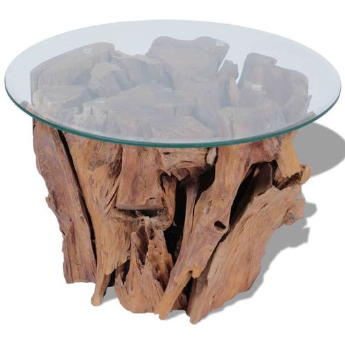 Abcrital - Couchtisch Massivholz Teak Treibholz 60 cm