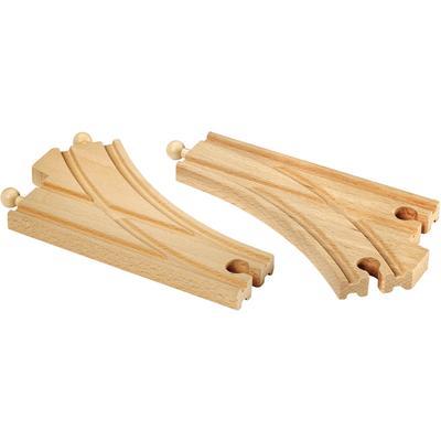 BRIO Weiche WORLD Bogenweichen (L,M), FSC-Holz aus gewissenhaft bewirtschafteten Wäldern beige Kinder Ab 3-5 Jahren Altersempfehlung