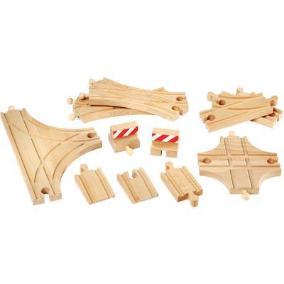 BRIO Gleise-Set Ergänzungsset Holzschienensystem, Brio WORLD Schienen und Weichensortiment, FSC-Holz aus gewissenhaft bewirtschafteten Wäldern bunt Kinder Ab 3-5 Jahren Altersempfehlung