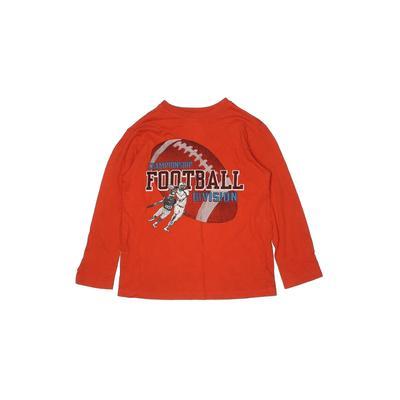 The Children's Place - The Children's Place Long Sleeve T-Shirt: Orange Solid Tops - Size Medium