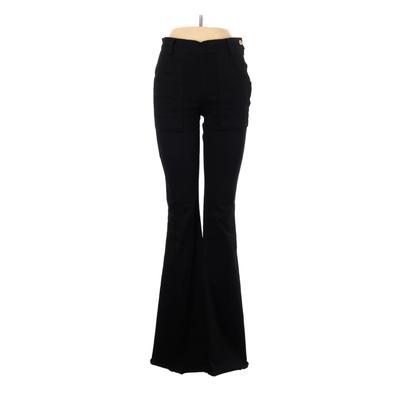 FRAME Casual Pants – Mid/Reg Rise: Black Bottoms – Size 28