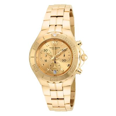 TechnoMarine Sea Pearl 40.1mm watch with + 14K Yellow Gold Gold Gold dial 5040.D Quartz - Model 715004