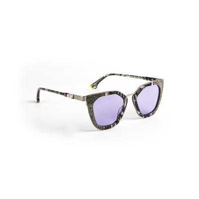 Invicta Women's Objet D Art Cat Eye Sunglasses Purple (27580-OBJ-637)