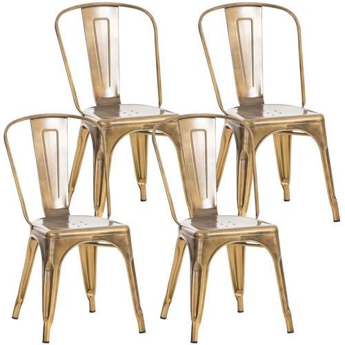 4er Set Stuhl Benedikt-gold