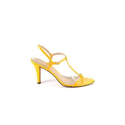 Boutique Nordstrom Heels: Yellow Solid Shoes - Size 9 1/2