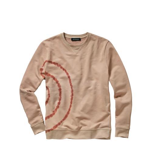 Mey & Edlich Herren Shibori-Sweatshirt beige 46, 48, 50, 52, 54, 56