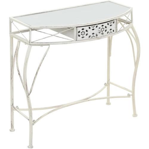 Beistelltisch Französischer Stil Metall 82x39x76 cm Weiß
