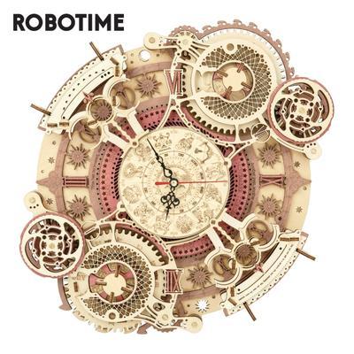 Robotime – horloge murale du zodiaque ROKR LC601, Puzzle 3d en bois, modèle de construction, cadeaux