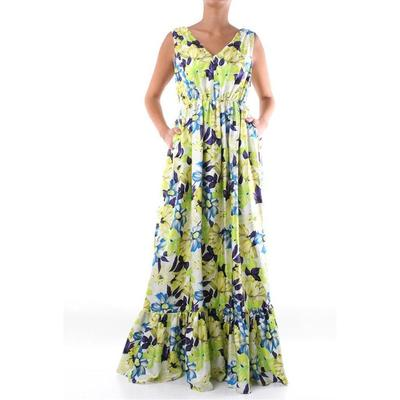 Dress Long Fancy - Yellow - MSGM Dresses