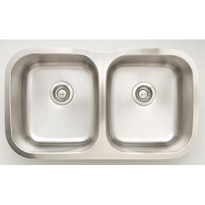 32.25-in. W CSA Approved Stainless Steel Kitchen Sink With Stainless Steel Finish And 18 Gauge - American Imanginations AI-27630
