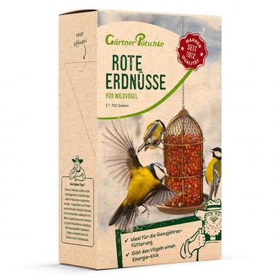 Rote Futter-Erdnüsse für Wildvögel, 750 g