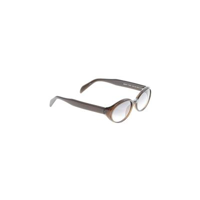 DKNY Sunglasses: Brown Solid Acc...