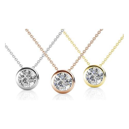 Halskette mit Kristall-Anhänger: 1/ Roségold