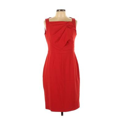 Karen Millen Casual Dress - Party: Red Solid Dresses - Used - Size 12