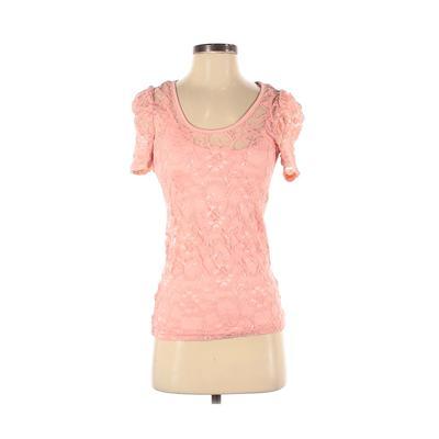 rue21 Short Sleeve Top Pink Soli...