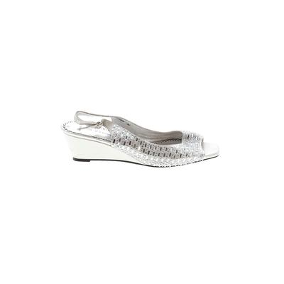 Lady Couture - Lady Couture Wedges: Silver Solid Shoes - Size 39