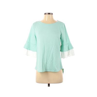 Elle Short Sleeve Top Blue Solid...
