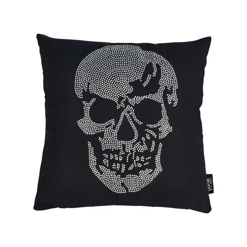 Done »Skull« Kissen 65x65 cm / Strasssteine silber