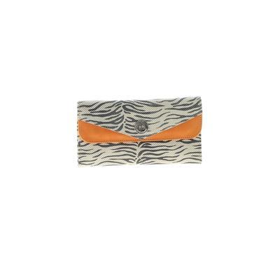 Carla Danelli - Carla Danelli Leather Wallet: White Animal Print Bags