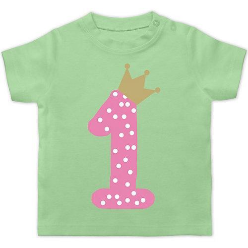 Baby Geburtstag Geburtstagsgeschenk 1. Geburtstag Krone Mädchen Erster T-Shirts Kinder mint Baby