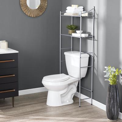 Herrenlee Above Toilet Spacesaver by Southern Enterprise in Silver
