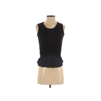 DR2 Sleeveless Top Black Solid S...