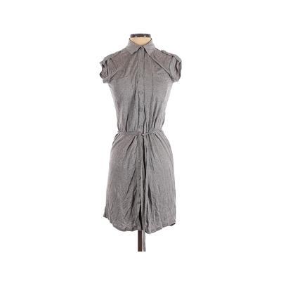 Joe Fresh - Joe Fresh Casual Dress - Shirtdress: Gray Solid Dresses - Used - Size X-Small
