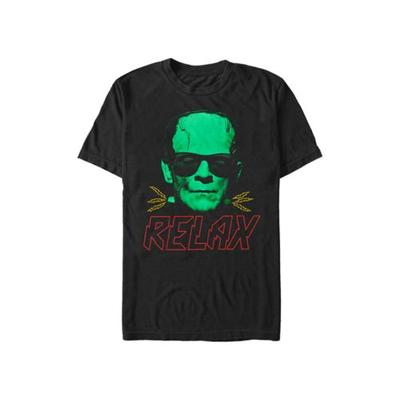 Universal Monsters Black Frank Relax Graphic T-Shirt