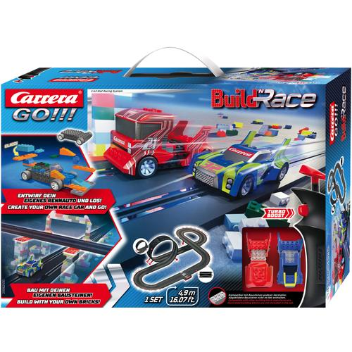 Carrera Autorennbahn GO - Build 'n Race Racing Set 4.9 bunt Kinder Autorennbahnen Autos, Eisenbahn Modellbau