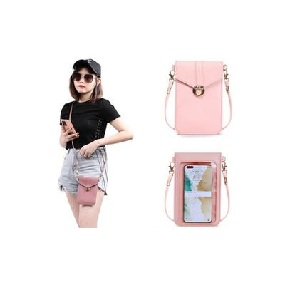 Touch Screen Mobile Phone Bag: Pink