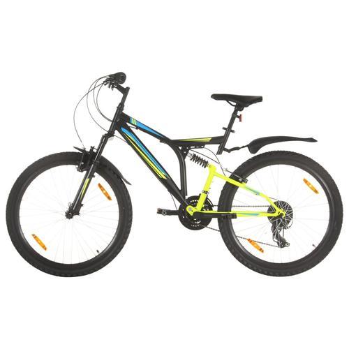 vidaXL Mountainbike 21 Gang 26 Zoll Rad 49 cm Schwarz
